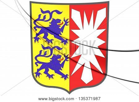 Schleswig-holstein Coat Of Arms, Germany.