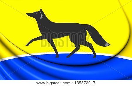 Flag Of Surgut (khanty-mansi Autonomous Okrug), Russia.