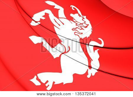 Flag Of Twente, Netherlands.