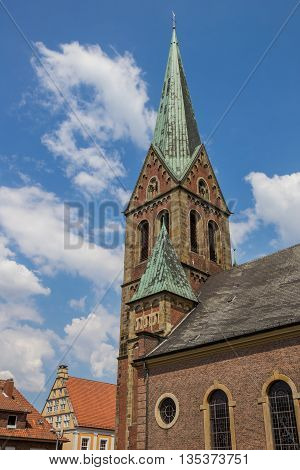 Tower Of The Bonifatius Church In Lingen