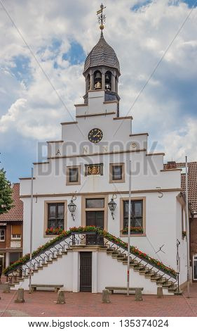 Historical Town Hall In The Center Of Lingen