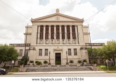 SAN ANTONIO USA - APR 11: San Antonio Scottish Rite Library and Museum building. April 11 2016 in San Antonio Texas United States