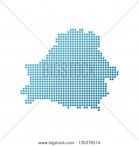 Map of Belorussia Icon in blue modern style