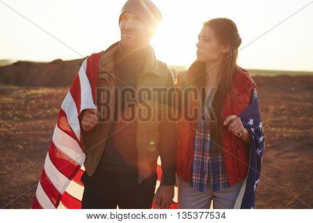 Dates with American flag