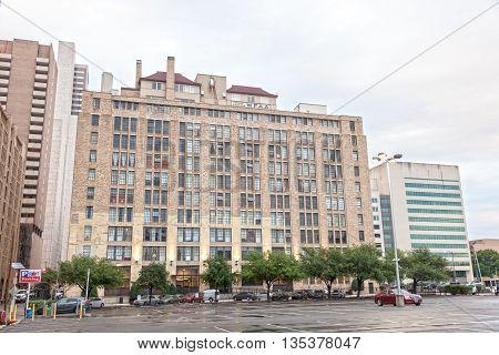 DALLAS USA - APR 9: Old building in the city of Dallas. April 9 2016 in Dallas Texas United States