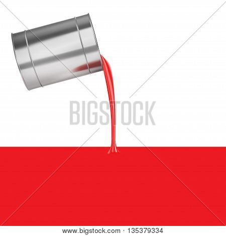 Filling with red isolated on a white background vector illustration.