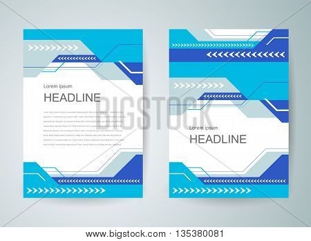Business flyer brochure design template cover abstract