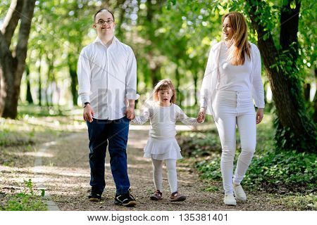 People with down sydrome are equally happy walking in nature