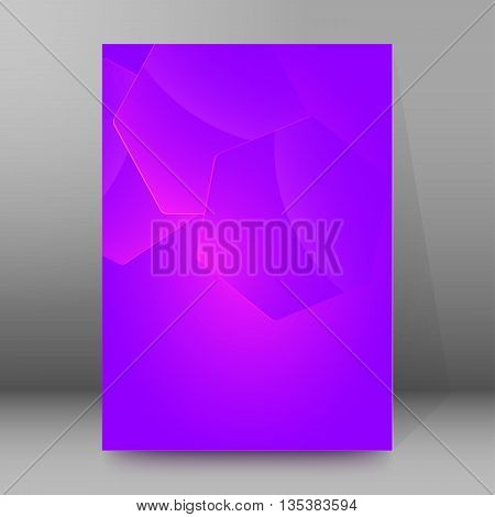 Brochure Cover Template Vertical Format Glowing Background55