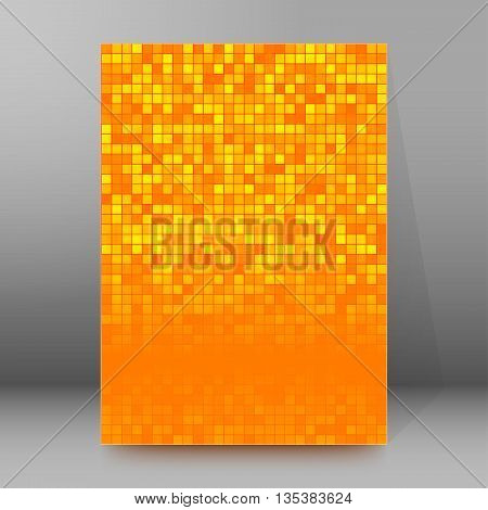 Brochure Cover Template Vertical Format Glowing Background57