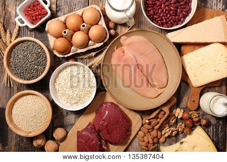 assorted food high in protein