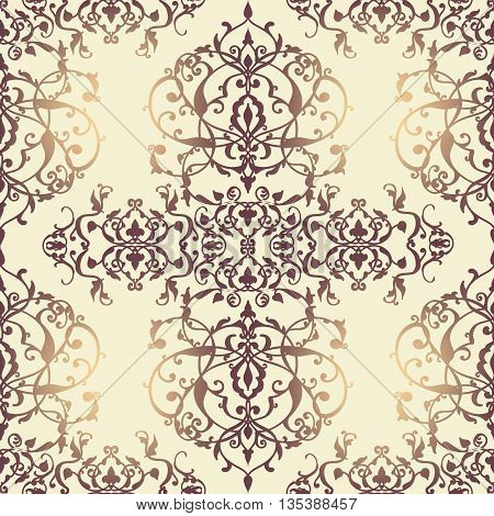 Vector Abstract Seamless Pattern With Geometric And Floral Ornaments, Stylized Flowers, Dots, Snowfl