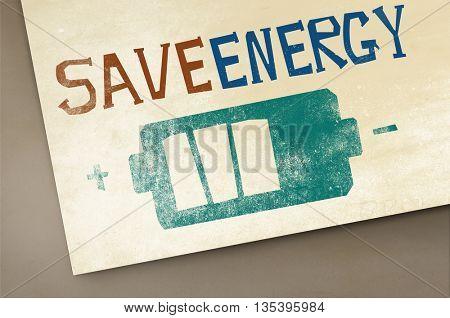 Save Energy Power Light Eco Concept