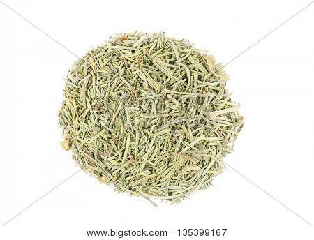 Dried rosemary isolated on white