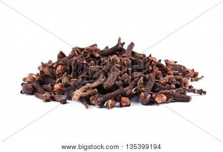 Cloves spice isolated on white