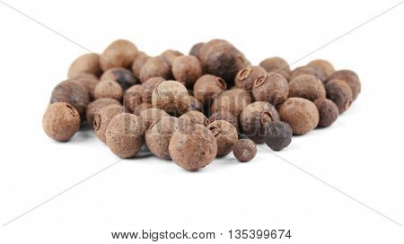 Aromatic allspice isolated on white