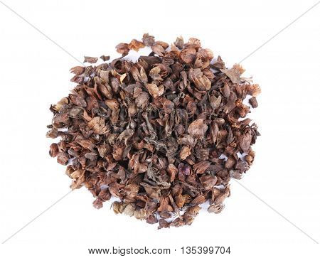 Dried basil (rayhon) isolated on white