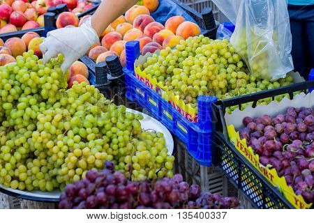 photography of selling fruit and vegetables on the market ANTALYA TURKEY
