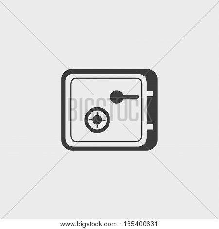 Safe money icon Car Icon in a flat design in black color. Vector illustration eps10