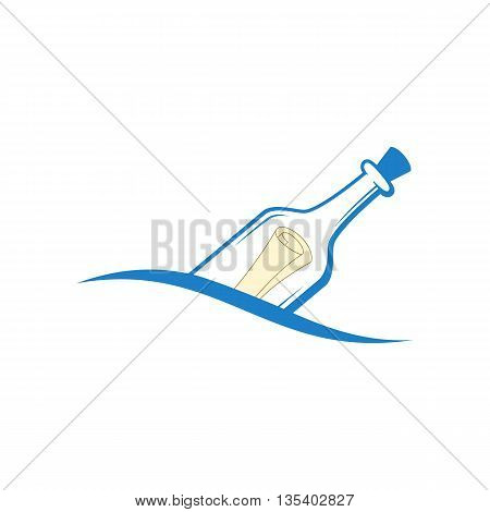 Vector S.o.s. Message In A Bottle.