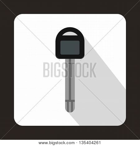 Car key icon in flat style on a white background