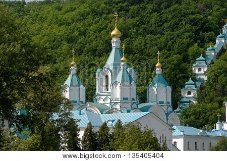 Svyatogorsk Holy Assumption Monastery was founded in XV century located in the Donetsk region Ukraine.