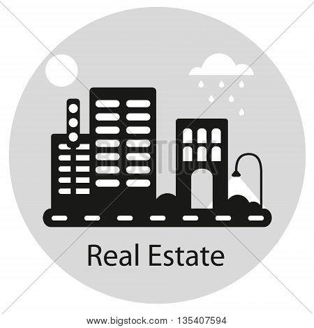 Real Estate concept. Retro style vector illustration