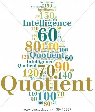 Iq Or Intelligence Quotient Concept