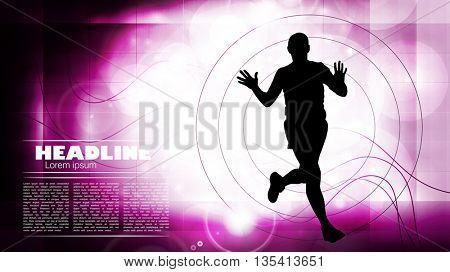 Sport, marathon runner illustration