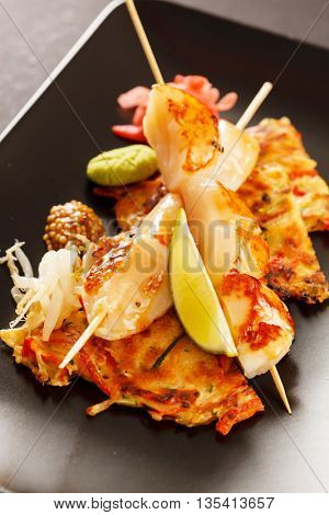 Japanese Skewered Scallop with Vegetables