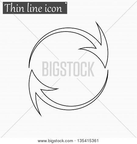 Arrow icon Vector Style Black thin line