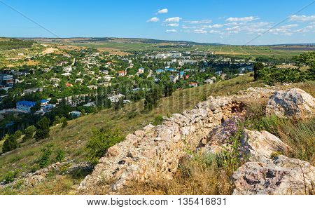 Modern city of Balaklava on the Crimean Peninsula