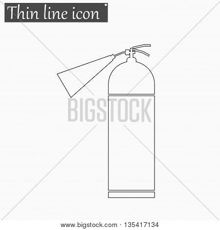 fire extinguisher icon Vector Style Black thin line