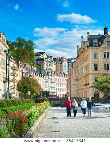 People At Karlovy Vary Resort