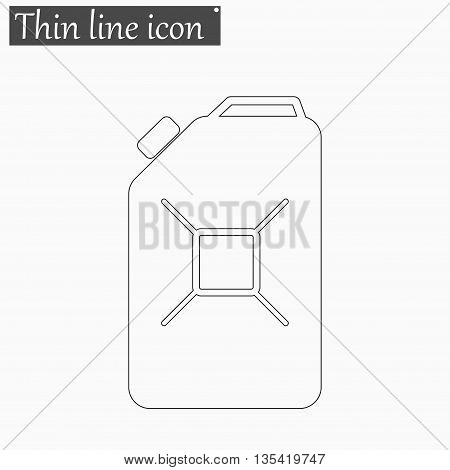 Jerrycan oil icon Vector Style Black thin line