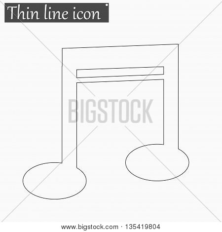 Note icon Vector Style Black thin line