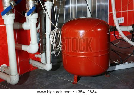 Heating system in a boiler room