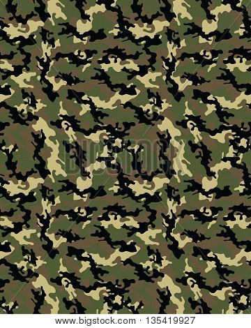 Fashionable camouflage pattern, vector illustration.Millatry print .Seamless vector