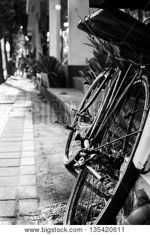 A typical street scene in Ubud, Bali, Indonesia