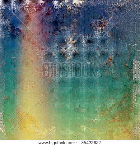 Retro style grunge background, mottled vintage texture. With different color patterns: yellow (beige); brown; green; blue; red (orange); purple (violet)