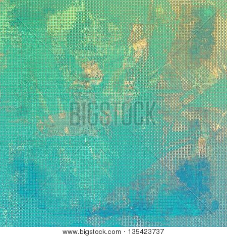 Decorated texture, antique vintage background with different color patterns: yellow (beige); brown; green; blue; cyan