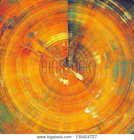 Spherical decorated texture, antique vintage background with different color patterns: yellow (beige); brown; green; red (orange)