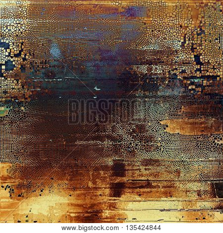 Vintage mottled frame, textured grunge background with different color patterns: yellow (beige); brown; blue; gray; purple (violet)