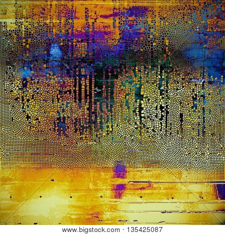 Retro background, antique texture for abstract vintage design composition. With different color patterns: yellow (beige); brown; blue; red (orange); purple (violet); black