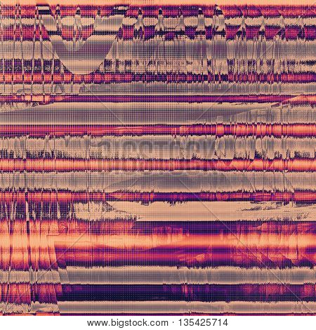 Distressed grunge texture, damaged vintage background with different color patterns: yellow (beige); gray; red (orange); purple (violet); pink