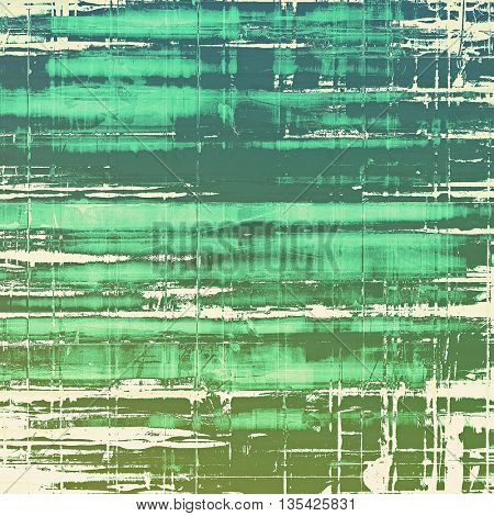 Grunge colorful texture, aged weathered background with different color patterns: green; blue; gray; cyan; white