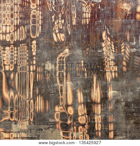 Retro abstract background, vintage grunge texture with different color patterns: yellow (beige); brown; gray; black