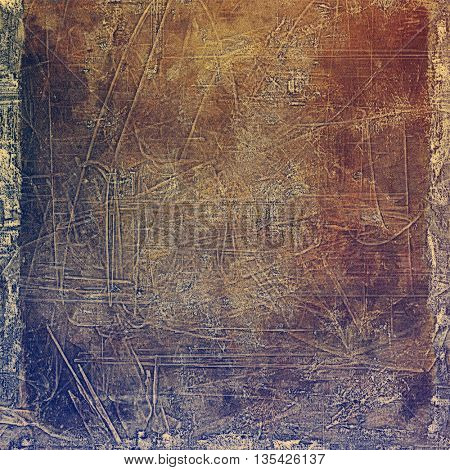 Old style design, textured grunge background with different color patterns: yellow (beige); brown; blue; gray; purple (violet); pink