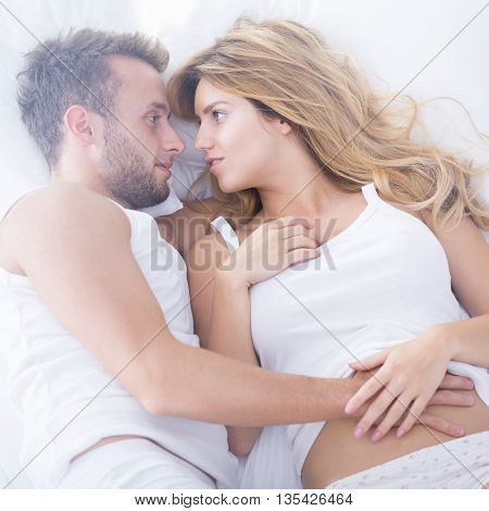 Couple Having Sensual Foreplay