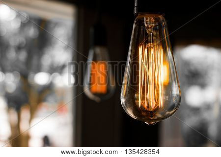 Decorative antique edison style filament light bulb.